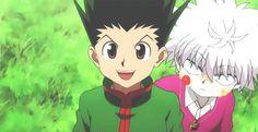 killua x Gon funny hunter x hunter--> I wish I had a friendship like this -_-