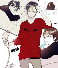 """Find and save images from the """"Anime/Manga/"""" collection by Yuki-chaan (yuki_chaan) on We Heart It, your everyday app to get lost in what you love. Haikyuu Nishinoya, Haikyuu Fanart, Haikyuu Anime, Fanarts Anime, Manga Anime, Cute Anime Wallpaper, Witch Wallpaper, Volleyball Anime, Anime Angel"""