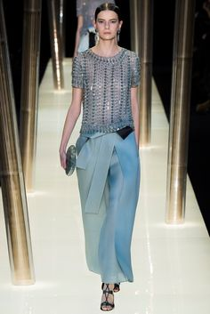 Armani Privé Spring 2015 Couture Fashion Show - Dasha Denisenko (Supreme)