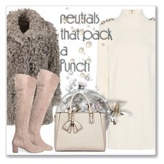 """""""Cool Neutrals"""" by andrejae ❤ liked on Polyvore featuring Iris & Ink, Burberry, neutrals, polyvoreeditorial and polyvorecontest"""