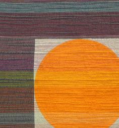 """close up showing matchstick quilting:  """"Sunset"""" by Leanne Chahley. 1st place, Modern Wallquilt or Bed Quilt, 2014 National Juried Show ~ Canadian Quilters' Association"""