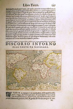 ...Carta da Navigare 1572-1620 Porcacchi Mariner's Sea Chart [M-13320] - $695.00 : Antique Manuscripts, Maps, Prints and Antiquities -