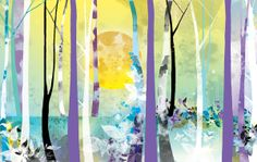 The Tree House Café - Illustrated murals by Bex Glover, via Behance