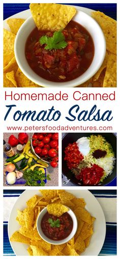 Fresh Homemade Salsa for Canning. Full of flavour and the perfect recipe for your garden fresh tomatoes and peppers.