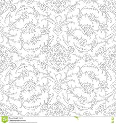 Traditional Arabic Ornament Seamless For Your Design. Desktop Wallpaper. Background. Iznik. - Download From Over 66 Million High Quality Stock Photos, Images, Vectors. Sign up for FREE today. Image: 75690880
