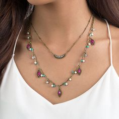 Jaipur Two-Row Convertible Necklace   | Chloe + Isabel @soulereport