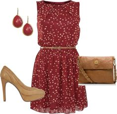 Dressy engagement oufit.    #red #dress #hearts #heels #fashion #style #clothes #outfit