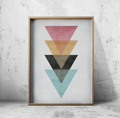 Wall At Prints - Posters Geometric Wall Art Prints - Abstract Art Prints…
