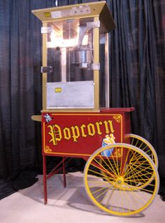 *Pop* *Pop* Popcorn is a great way to liven up any party! Popcorn Machine with Cart, Packages and Popcorn Bags Popcorn Bags, Pop Popcorn, Popcorn Packaging, Candy Games, Party, Drink, Food, Beverage, Essen