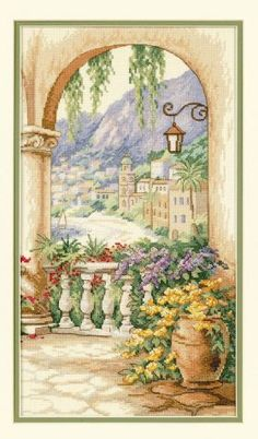 Terrace Arch by Dimensions, counted cross stitch kit