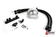 Spulen Spherical Catch Can Kit, 2.0T FSI, Billet Billet Aluminum - Silver