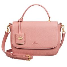 J.ESTINA Women NORITA Shoulder Bag 24K Gold Glossy from Korea / Light Pink / EBAY ID, STORE - iamtov