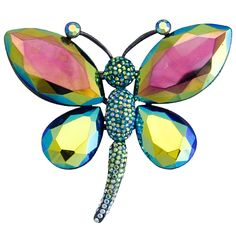 Butler & Wilson Dragonfly Brooch Swarovski crystal