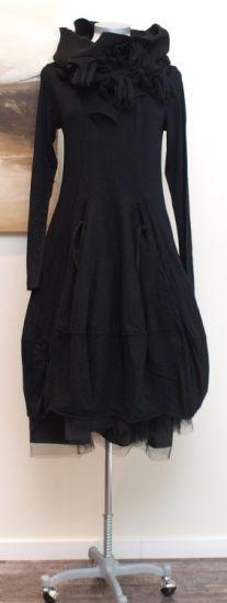 stilecht - mode für frauen mit format... - rundholz black label - Ballonkleid Felted schwarz - Winter 2013