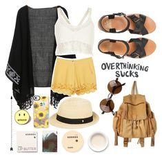 """""""Overthinking sucks"""" by xfatimaxo ❤ liked on Polyvore featuring Jack Wills, River Island, Free People, Korres, Helen Kaminski, Casetify and Local Heroes"""