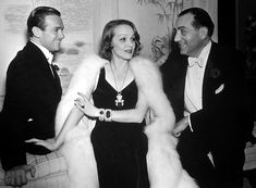 fur show fairbanks | Marlene Dietrich is the center of Douglas Fairbanks Jr. and Fritz Lang ...