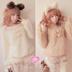 Aliexpress.com: Comprar Crescendos bobon21 bola de pelo de encaje patchwork ovejas t0945 de suéter de lentejuelas confiables proveedores de Loliloli shop for Lolita Princess.