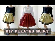 DIY skladaná sukňa/DIY pleated skirt (SK,EN sub) - YouTube Skateboard, Diy Clothing, Couture, Pattern Making, Pleated Skirt, Cheer Skirts, Ballet Skirt, Sewing, Clothes