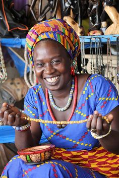 Cynthia Danquah is a jewelry artisan from West Africa.