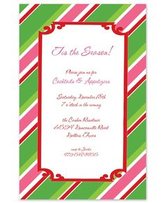 Olivia Holiday Invitations - Rosanne Beck Collections (