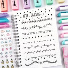 36 Simple Doodles You Can Easily Copy in Your Bullet Journal bullet journal doodles – so cute text dividers! Bullet Journal Inspo, How To Bullet Journal, Bullet Journal Headers, Bullet Journal Aesthetic, Bullet Journal Ideas Pages, Bullet Journal Dividers, Bullet Journal Ideas Handwriting, Journal Diary, Bullet Journal Banner