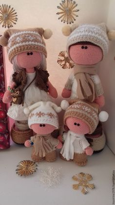 Crochet doll family. (Inspiration).
