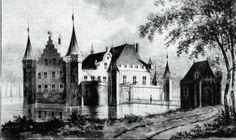 Vermoedelijk een fantasie tekening van het Hof van Weena,  zoals het eruit zou hebben gezien rond 1400