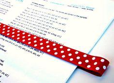 Pattern Place Keeper - Magnet Bookmark - Knitting Crochet - 3 Green Polka Dot. $11.99, via Etsy.