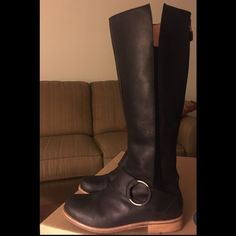 Olukai Holo Lio II Black Leather Boots Worn once, like new. Excellent condition. Olukai Shoes