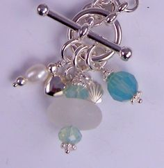 Lariat Cluster~ Authentic Sea Glass Mermaid Tear Necklace ©2009
