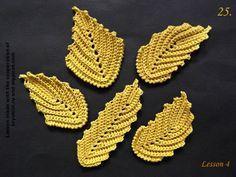 MyPicot   Free crochet patterns Irish Crochet tutorial. This is lesson 4 of 6. Embossed leaf tutorial.