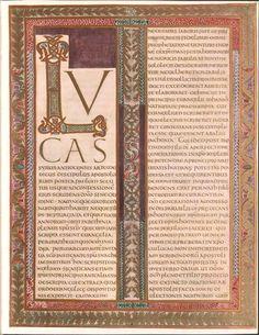 Codex Aureus  9th Century Carolingian Gospel