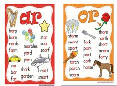 """This chart could be used as an anchor chart to discriminate between words that are spelled with """"ar"""" and """"or"""". It includes both single and multisyllabic words and highlights the spelling pattern to call students' attention to the placement of the """"ar"""" or """"or"""" in the words."""