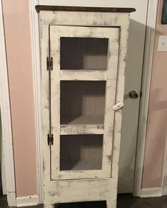 Custom handmade pie safe. Painted in DIY paint.