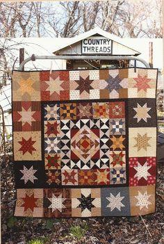 Primitive Folk Art Quilt Pattern:  PIECING IS FINE