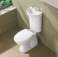 I'm really not sure why this isn't already the norm... Caroma Toilet with Integrated Hand Basin