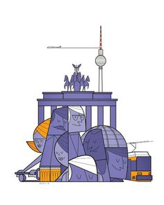 Cities by Ale Giorgini, via Behance