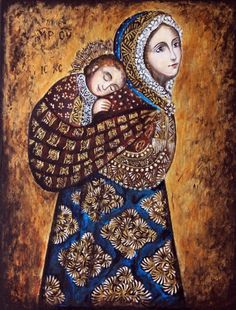 Feliz dia de la madre!!! Chustująca - Virgem dos Andes Blessed Mother Mary, Divine Mother, Religious Pictures, Jesus Pictures, Catholic Art, Religious Art, Christian Images, Queen Of Heaven, Mama Mary