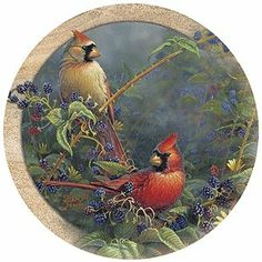 $25.09-$29.99 Cardinal Pair Thirstystone Sandstone Coasters -  http://www.amazon.com/dp/B000OVTHRM/?tag=pin2wine-20