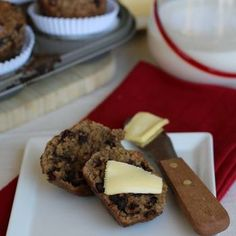 Chocolate Chip Protein Muffins (nut free)