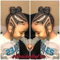 TOP 24 Bast African Braids for Little Black Girls - Trends 2018 Fulani style cor. <img> TOP 24 Bast African Braids for Little Black Girls – Trends 2018 Fulani style cornrows into ponies Kids Hairstyles - Black Hair Hairstyles, Little Girl Braid Hairstyles, Natural Hairstyles For Kids, Kids Braided Hairstyles, Teenage Hairstyles, School Hairstyles, Black Toddler Hairstyles, Natural Hair Styles Kids, African Kids Hairstyles