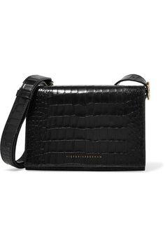 424cc0c76c71 Victoria Beckham - Mini Croc-effect Leather Shoulder Bag - Black