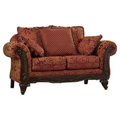 The Astoria Grand Belmond Loveseat has flared arms and an interesting design that makes it perfect for a traditional home decor. This attractive and ultra-stylish loveseat features a hardwood frame, which makes it sturdy and durable. The Belmond Loveseat is cushioned with foam padding and wrapped in polyester for a super soft and comfortable seating experience. This loveseat is manufactured in the United States of America and requires some assembly upon arrival.