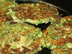 Cheesy Zuchinni Patties ~ Super easy and a huge hit with the kids!
