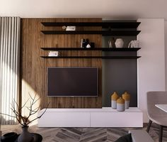 The 50+ Best Entertainment Center Ideas - Home and Design - Next Luxury Entertainment Wall Units, Living Room Entertainment Center, Tv Cupboard Design, Retro Tv Stand, Feature Wall Living Room, Modern Tv Wall Units, Basement Living Rooms, Modern Spaces, Furniture Makeover