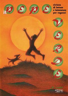 """Illustrazione di Marco Lorenzetti per la copertina della rivista di letture e letterature per ragazzi """"Il Pepe verde"""", nº 72 aprile/giugno 2017."""