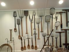 wall full of old tools