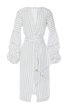 Linen Striped Juliet Wrap Front Tunic by JOHANNA ORTIZ Now Available on Moda Operandi
