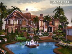 Amon Villa by Autaki  http://www.thesimsresource.com/downloads/1171472