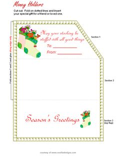 Free Christmas Printables Money Holders Card Wallet Gift Cards Ideas Wallets Vouchers
